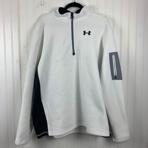 Under Armour Loose White Pullover 3/4 zip